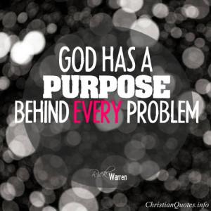 Rick Warren Quote – God's Purpose