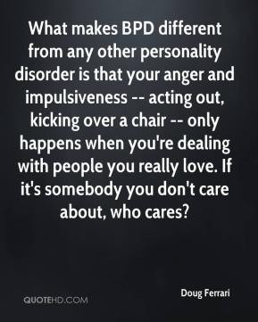 Ferrari - What makes BPD different from any other personality disorder ...