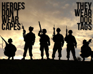 Heroes. (heroes,army,soldier,quote,dogtag)