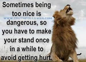 Sometimes being too nice is Dangerous,