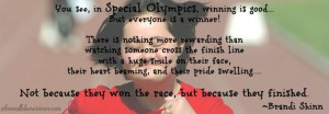 Special Olympics Quote