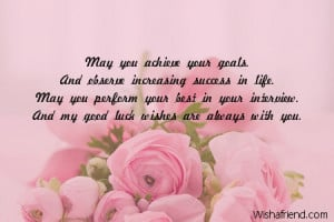 you achieve your goals and observe increasing success in life may you ...