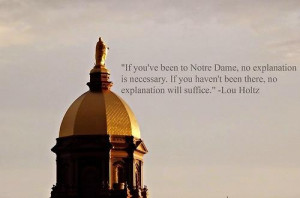 Notre Dame according to Lou Holtz