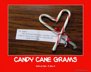 Candy Cane Grams Sale in Dec for 6th grade fundraiser?