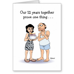 12th Wedding Anniversary Card: Love