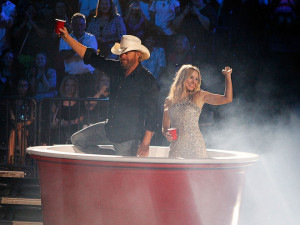 Carrie Underwood and Brad Paisley get caught in a love triangle, Luke ...