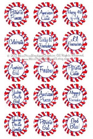 4x6 - 4TH OF JULY - Patriotic Sayings - Stars and Stripes - One Inch ...