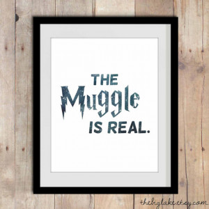 The Muggle Is Real - The Struggle Is Real - Harry Potter themed art ...