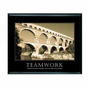 Advantus Framed Motivational Print, Teamwork, Sepia-Tone, 30 x 24 ...