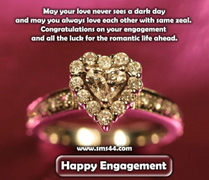 Best Newly Engagement Couple Greetings Quotes