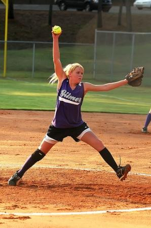 The windmill motion allows the softball pitcher to leverage the full ...