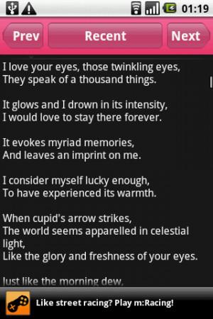 Love Poems - screenshot