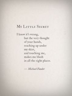 Thoughts, Hot Stuff, Sexy, Michael Faudet, Naughty, Places, Things ...