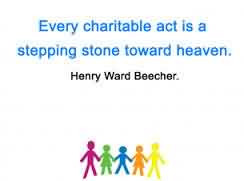 Best Charity Quote ~ Real Charity Doesn't Care if It's ...