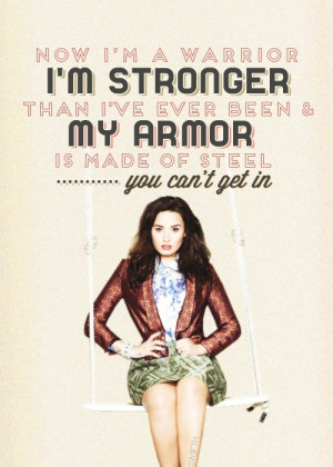 Warrior - Demi Lovato Lyrics