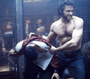 Here's Abe Lincoln as the cage-fighting Wolverine: