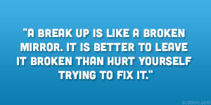 ... is better to leave it broken than hurt yourself trying to fix it