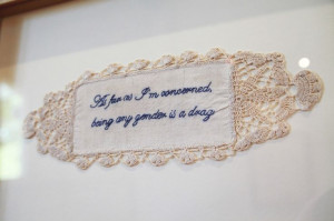 Radical x-stitch, quote by Patti Smith