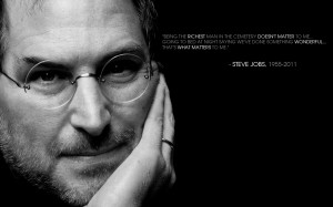 ... the one that fell on Newton's head and the one that Steve Jobs built
