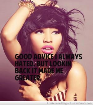 Nicki Minaj Inspiring Quote