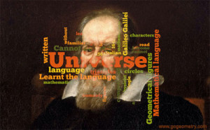 Geometry Quote, Word Cloud: Galileo Galilei.