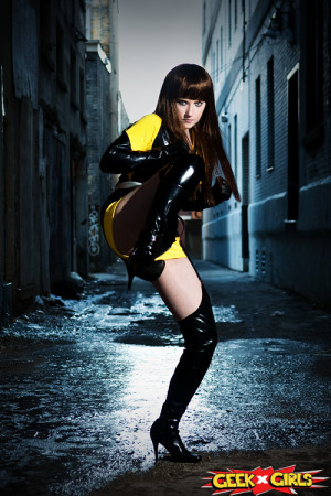 girl Dr manhattan cosplay