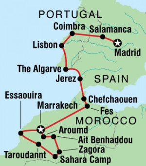 Map Morocco And Spain With