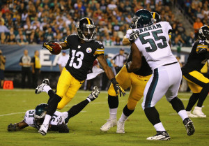 Dri Archer turns the corner on the Eagles in a preseason game two ...