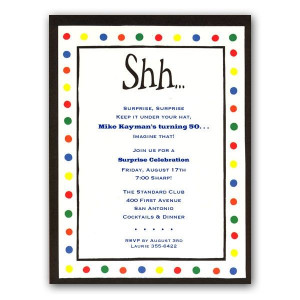 Humorous Retirement Quotes | Shhh Surprise Invitations | PaperStyle