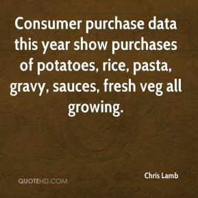 Consumer purchase data this year show purchases of potatoes, rice ...