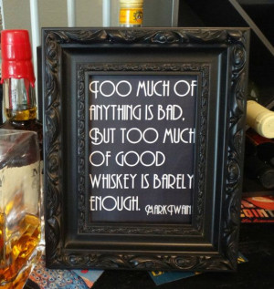 Printable Mark Twain Whiskey Quote Sign - Wedding, Reception, Roaring ...