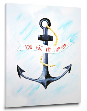 You are my Anchor - Wall Quote art for baby nursery – Cici Art ...