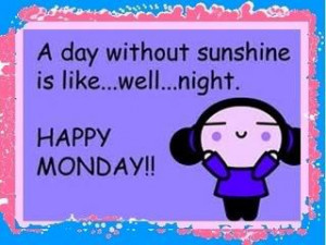 Happy Monday Morning to all. It's a new day, a new week and we all ...