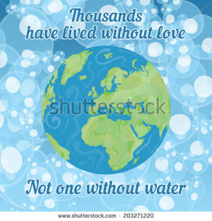 Protect Earth quote with the planet globe eastern hemisphere vector ...
