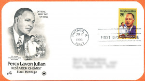 ... Bond. Julian's was the third portrait she did for the USPS. Credit: U