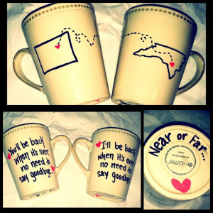 ... school 5 years ago. As a going away gift, I made us these mugs