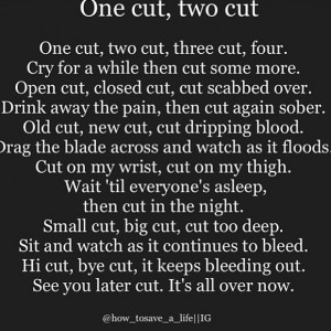 poems about cutting yourself tumblr