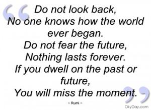 do not look back rumi