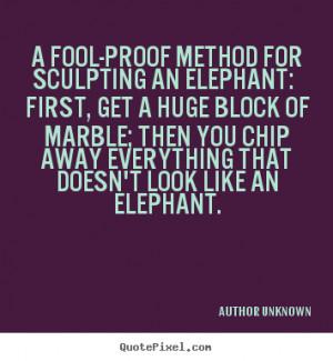 Sculpting quote #2