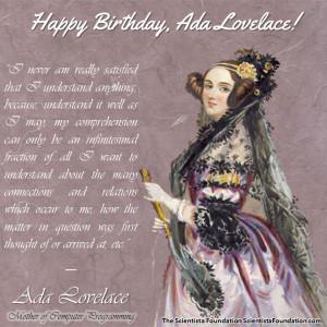 Ada Lovelace quote In Enabling Mechanism
