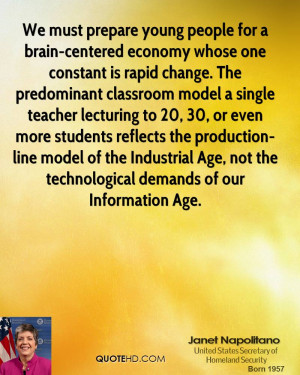 We must prepare young people for a brain-centered economy whose one ...