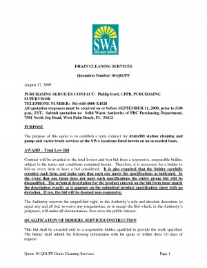 QUOTE SHEET FOR RESIDENTIAL CLEANING