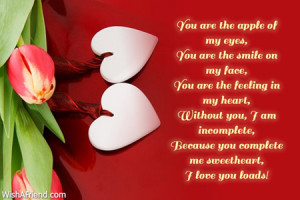 you are the apple of my eyes you are the smile on my face you are the ...