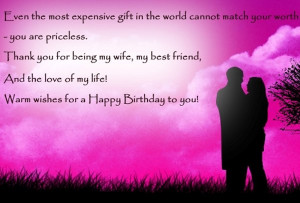 Posts related to happy birthday wishes to wife from husband