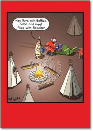 Meet Flies With Reindeer Funny Christmas Card by NobleWorks and Whyatt ...