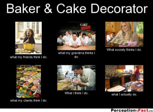 Baker & Cake Decorator what my friends think I do. what my grandma ...