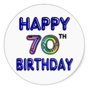 70th Birthday Stickers