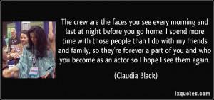 More Claudia Black Quotes
