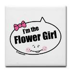 girl wedding bridal party t shirts gifts i m the flower girl quote ...