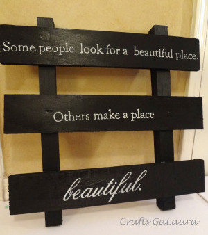 Black Pallet Quote Wall Hanging